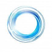 Vector abstract blue circle. Banner, flyer or Logo design template .