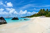 picture of virginity  - Stunning beach with white sand - JPG