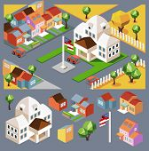 Small colorful neighborhood. vector