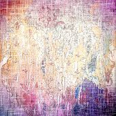 Old texture as abstract grunge background. With different color patterns: blue; purple (violet); yellow