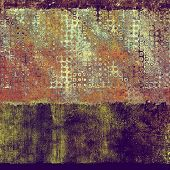 Old, grunge background or ancient texture. With different color patterns: green; purple (violet); orange; brown