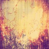 Grunge old texture as abstract background. With different color patterns: purple (violet); orange; yellow