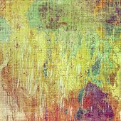 Background in grunge style. With different color patterns: green; purple (violet); orange; brown; yellow