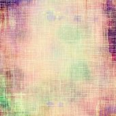 Art grunge vintage textured background. With different color patterns: green; purple (violet); yellow