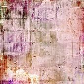 Old antique texture or background. With different color patterns: gray; purple (violet); orange; brown; yellow