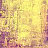 Art vintage background with space for text and different color patterns: yellow; brown; purple (violet)