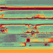Abstract grunge background of old texture. With different color patterns: green; orange; yellow