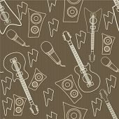 Seamless pattern wallpaper of musical instrument.