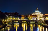 Rome, Angels Bridge And St. Peter
