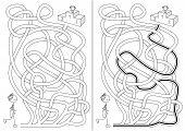 Cartoon Runner Maze