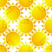 Stylish sunlight seamless pattern on a background .