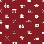 Japanese Icons Seamless Pattern Eps10
