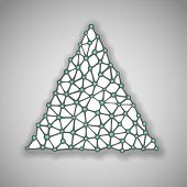 Hand drawn paper Christmas Tree, vector eps10 illustration