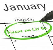 Happy new year against january calendar