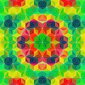 Abstract Triangle Pattern. Vector Colorful Background