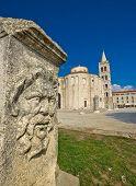 Zadar Old Roman Square Artefacts
