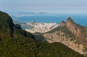 stock photo of olympic mountains  - Beautiful Rio de Janeiro City View with Mountains - JPG