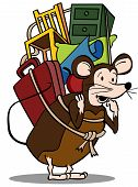 picture of pack-rat  - Illustration image drawing isolated within a white background - JPG