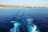 The View On Sharm El Sheikh Harbor From Yacht, Egypt