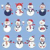 Cute snowmen collection