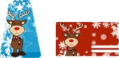 unhappy reindeer cartoon giftcard