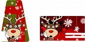 reindeer cartoon giftcard