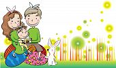 Happy Easter greeting card border