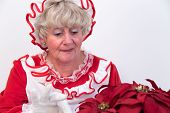 Mrs Claus Attends To Plant