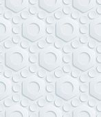 Abstract 3d seamless pattern. Editable vector EPS10. See others in my Perforated Paper Set.