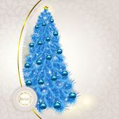 Abstract lace background with Christmas fancy blue herringbone w
