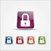 Protected Colorful Vector Icon Design