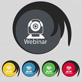 Webinar Web Camera Sign Icon