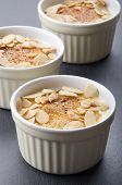 Creme Brulee With Roasted Almond Sliver