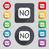 Norwegian Language Sign Icon. Set Of Colored Buttons. Vector