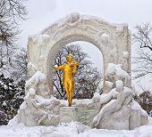 Statue Of Johann Strauss In Vienna Stadtpark