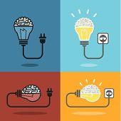 Brain And Bulb Light