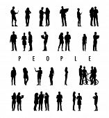 Silhouettes of People in a Row and The Text People