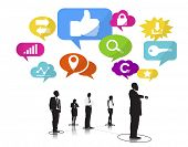 Business People with Social Media and Leadership Concepts
