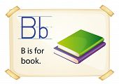 Illustration of alphabet B is for book