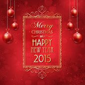 Decorative background for the New Year and Christmas