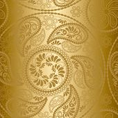 Seamless gold mandala pattern