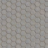 Grey Figured Pavement with Honeycombs.