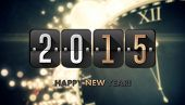 2015 against black and gold new year graphic