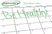 This year I will against january calendar