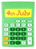 Calculator With 4Th July On Display