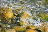 foto of h20  - Shallow water on coast of lake  - JPG