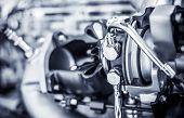 pic of muscle-car  - Car Engine closeup - JPG