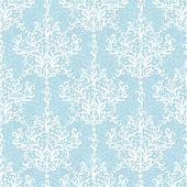 pic of damask  - Vintage vector light blue branches damask seamless pattern background graphic design - JPG