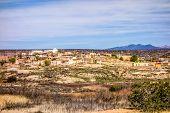 stock photo of pueblo  - laguna pueblo town site in new mexico  - JPG