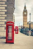 picture of phone-booth  - Big Ben and phone booths in London - JPG